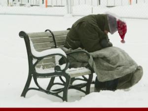 homeless santa